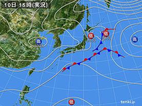 実況天気図(2014年11月10日)