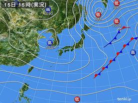 実況天気図(2014年11月15日)