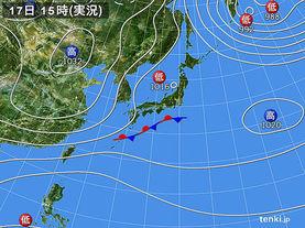 実況天気図(2014年11月17日)