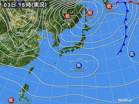 実況天気図(2014年12月03日)