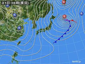 実況天気図(2015年01月01日)