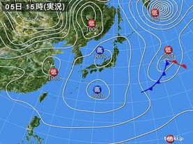 実況天気図(2015年01月05日)