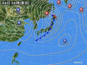 実況天気図(2015年01月06日)