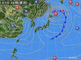 実況天気図(2015年01月07日)