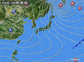 実況天気図(2015年01月09日)