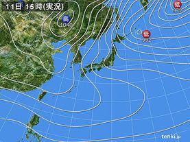 実況天気図(2015年01月11日)