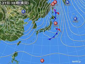 実況天気図(2015年01月27日)