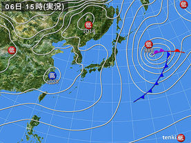 実況天気図(2015年02月06日)
