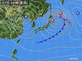 実況天気図(2015年02月27日)