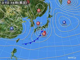 実況天気図(2015年03月01日)