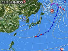 実況天気図(2015年03月05日)