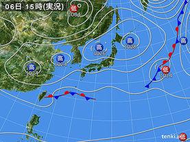 実況天気図(2015年03月06日)