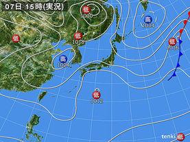 実況天気図(2015年03月07日)