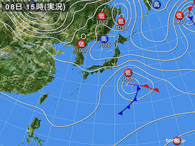 実況天気図(2015年03月08日)