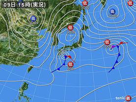 実況天気図(2015年03月09日)
