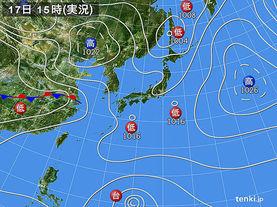 実況天気図(2015年03月17日)