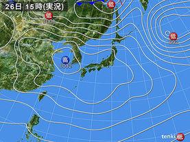 実況天気図(2015年03月26日)