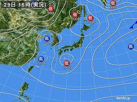 実況天気図(2015年03月29日)