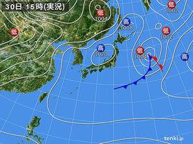 実況天気図(2015年03月30日)