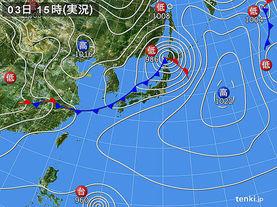 実況天気図(2015年04月03日)