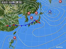 実況天気図(2015年04月05日)