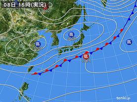 実況天気図(2015年04月08日)