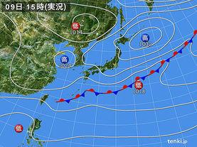 実況天気図(2015年04月09日)