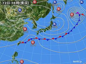 実況天気図(2015年04月12日)