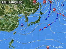 実況天気図(2015年04月25日)