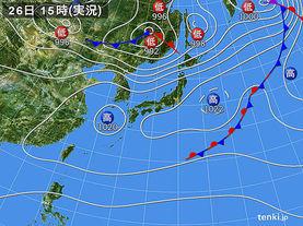 実況天気図(2015年04月26日)