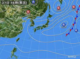 実況天気図(2015年04月27日)