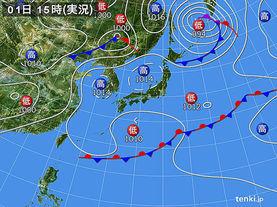 実況天気図(2015年05月01日)