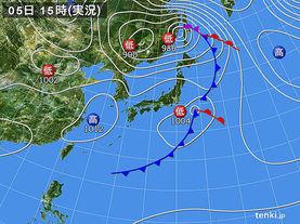 実況天気図(2015年05月05日)