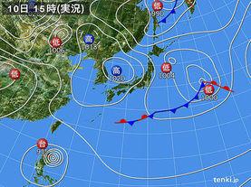 実況天気図(2015年05月10日)