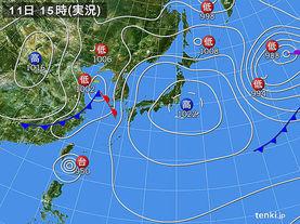 実況天気図(2015年05月11日)
