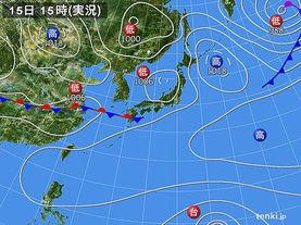 実況天気図(2015年05月15日)