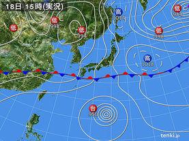 実況天気図(2015年05月18日)