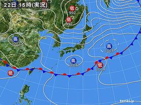 実況天気図(2015年05月22日)