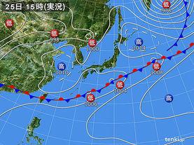 実況天気図(2015年05月25日)
