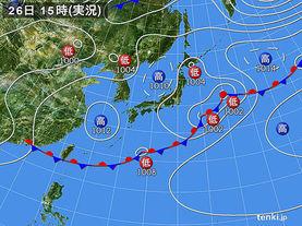 実況天気図(2015年05月26日)