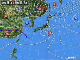 実況天気図(2015年05月29日)