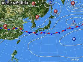 実況天気図(2015年06月02日)