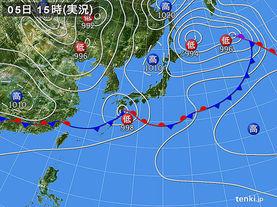 実況天気図(2015年06月05日)