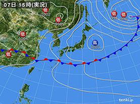 実況天気図(2015年06月07日)