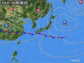 実況天気図(2015年06月08日)