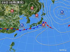 実況天気図(2015年06月09日)
