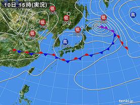実況天気図(2015年06月10日)