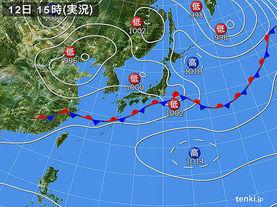実況天気図(2015年06月12日)