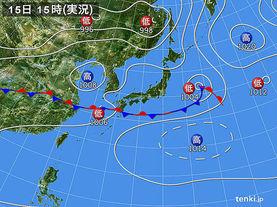 実況天気図(2015年06月15日)