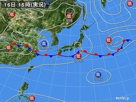 実況天気図(2015年06月16日)